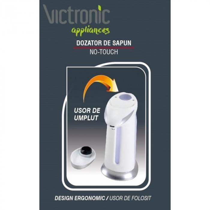 Dozator pentru sapun lichid sau gel dezinfectant, cu senzor, 400 ml, Victronic [3]