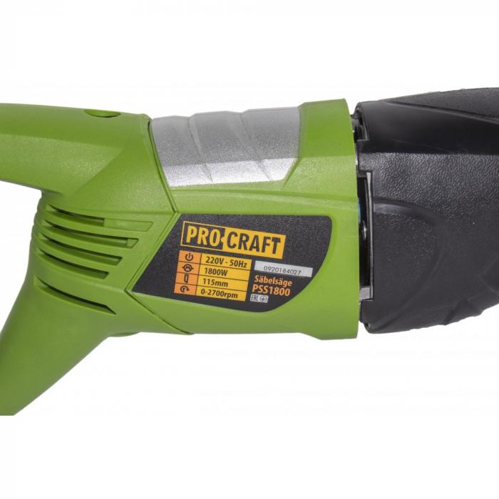 Fierastrau tip sabie Procraft PSS1800, 1800 W, 2700 RPM, 2 lame (EF-1469) [2]