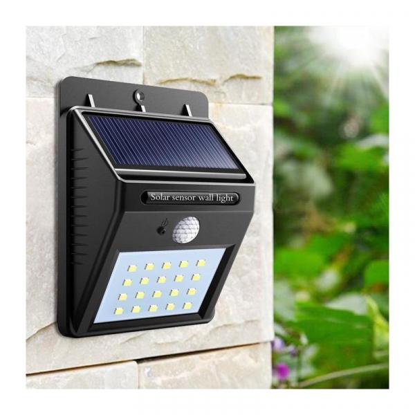 Lampa solara de perete cu senzor de miscare si lumina cu 30 leduri [1]
