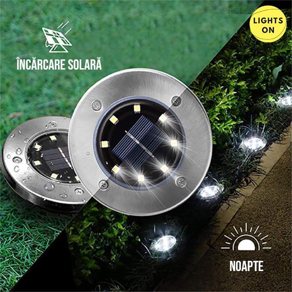 Set 4 bucati lampi cu incarcare solara 8 LED [1]