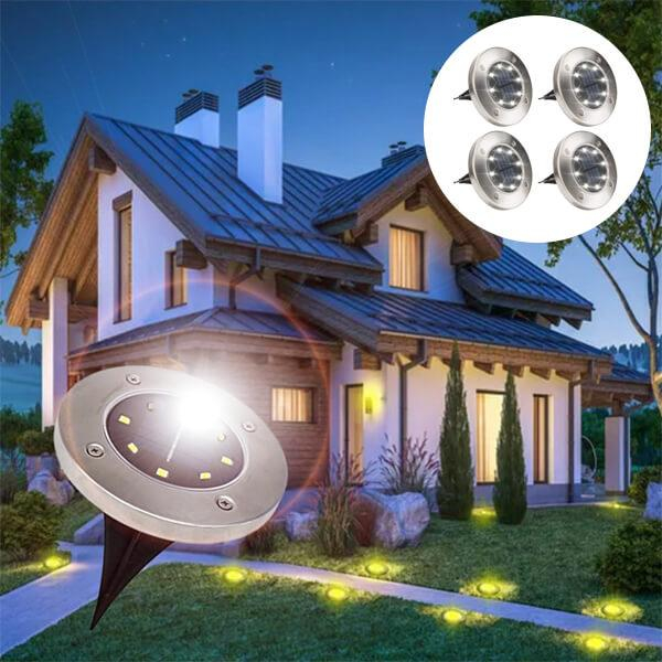 Set 4 bucati lampi cu incarcare solara 8 LED [8]