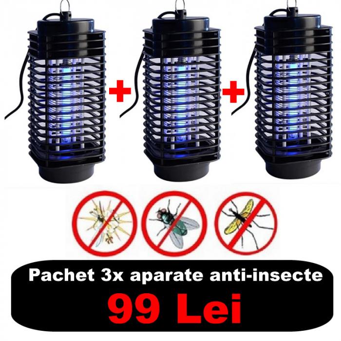 Pachet 3x Lampa UV impotriva insectelor, tantarilor si mustelor [0]