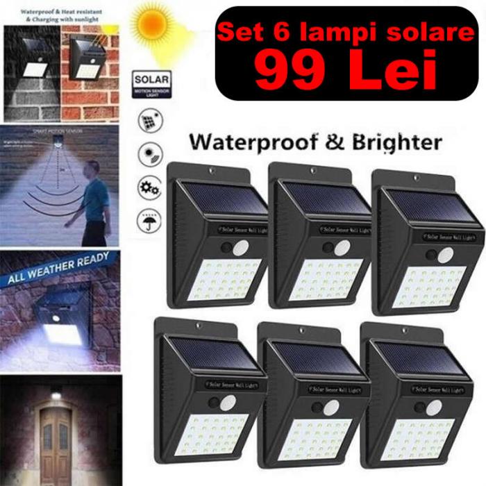 Pachet 6 Lampi solare cu senzor miscare - 30LED [0]