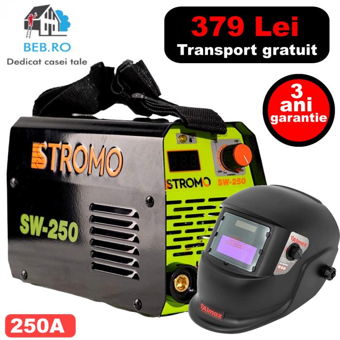 Pachet invertor STROMO SW 250 , 250 A + Masca LCD [0]