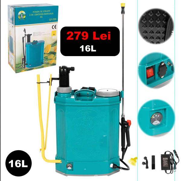 Pompa de stropit 2 in 1 (acc + man) 16L [0]