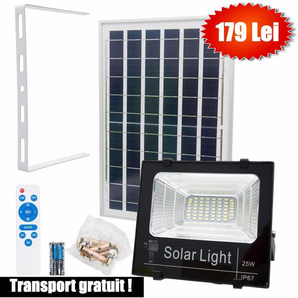Proiector 25w, LED SMD, Panou Solar si Telecomanda cu functii multiple [4]
