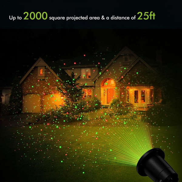 Proiector de exterior cu laser colorat si jocuri de lumini [0]