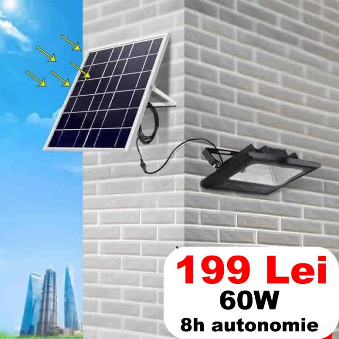 Proiector LED SMD 60W cu panou solar [0]