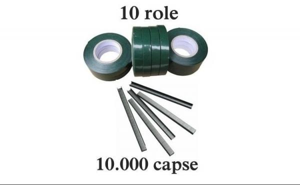 Set 10 role banda + 10.000 capse pentru aparat legat vita de vie si legume [0]