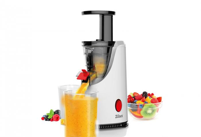 Storcator de fructe si legume cu melc Zilan ZLN-4014, Alb 200 W, 58-65 RPM, Recipient suc 600 ml, Recipient pulpa 600 ml, Functie Reverse [0]