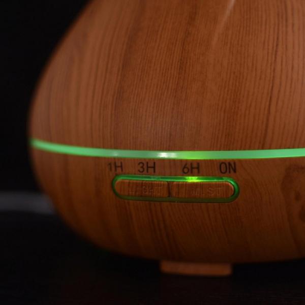 Umidificator difuzor de aromaterapie cu ultrasunete si lumina ambientala 400 ml [2]