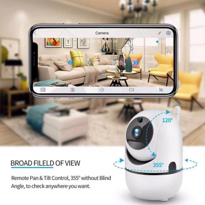 Camera de supraveghere HD cu senzor miscare, WiFi, vedere nocturna, sunet bidirectional [0]