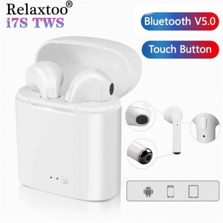 Casti wireless Bluetooth 5.0 i7s TWS - aspect elegant, sunet excelent [1]