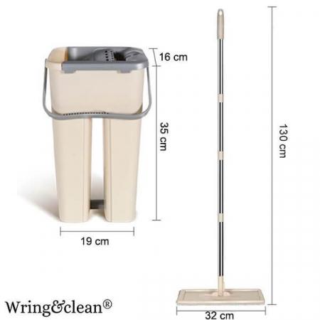 Galeata si mop , 2 cuve, 2 rezerve, tija telescopica [1]