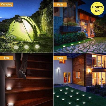 Set 4 bucati lampi cu incarcare solara 8 LED [7]
