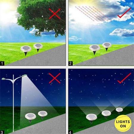 Set 4 bucati lampi cu incarcare solara 8 LED [3]