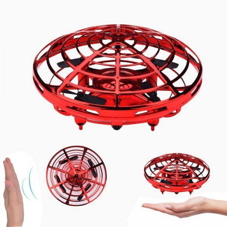 Mini drona OZN, disc zburator interactiv cu 5 senzori infrarosu, lumina LED [1]