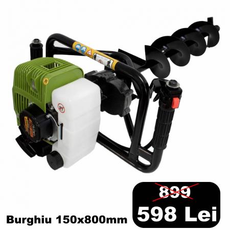 Motoburghiu Procraft 2.5CP, 150x800mm burghiu inclus [0]