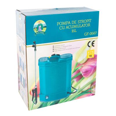 Pompa stropit electrica Pandora 16 Litri, 5 Bar,  + regulator presiune, vermorel cu baterie acumulator [3]