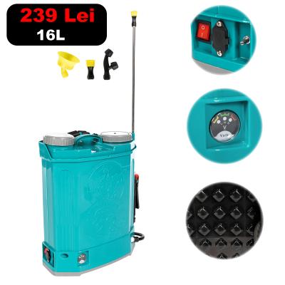 Pompa stropit electrica Pandora 16 Litri, 5 Bar,  + regulator presiune, vermorel cu baterie acumulator [0]