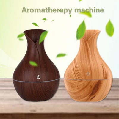 Umidificator difuzor de aromaterapie cu ultrasunete si lumina ambientala 400 ml [0]