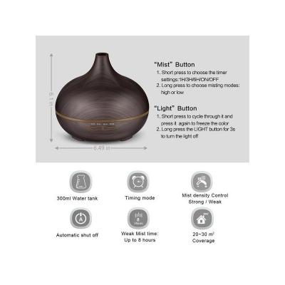 Umidificator difuzor wenge de aromaterapie cu ultrasunete si lumina ambientala [1]