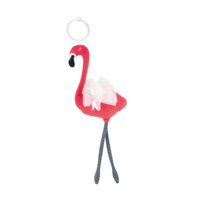 "Jucarie plus ""Jungle Sleeping Flamingo"", 0 luni +, coral [0]"