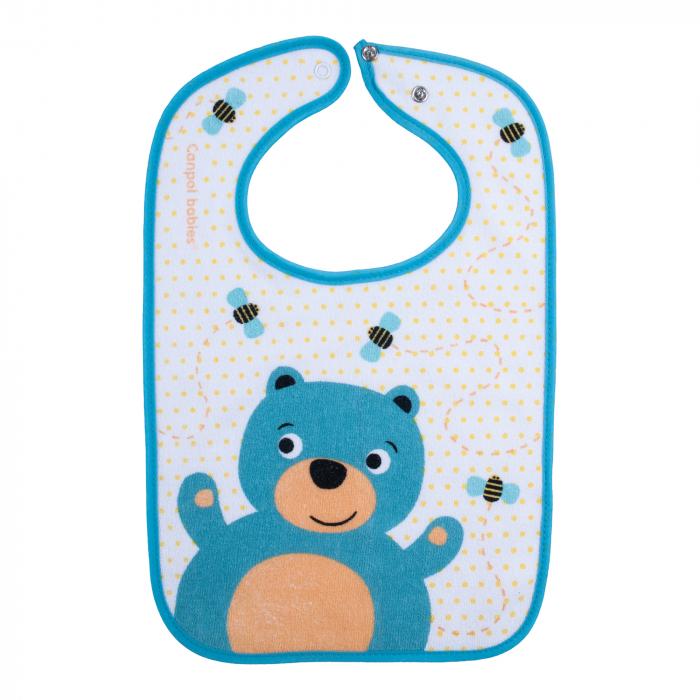 "Baveta ""Cute Animals"", Canpol babies®, urs, albastru [0]"