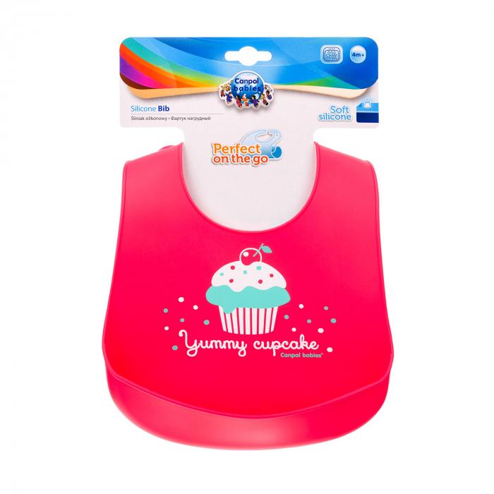 """Baveta din silicon moale """"Cupcake"""", fara BPA 1"""