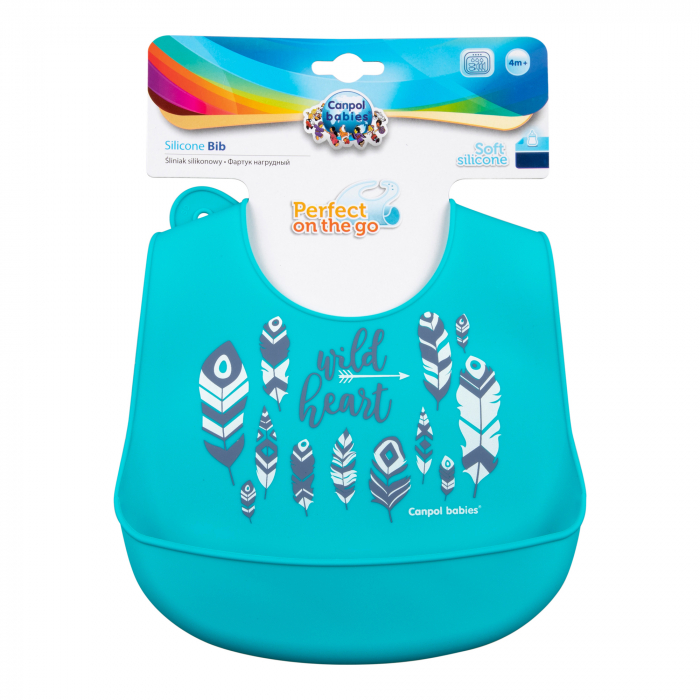 "Baveta din silicon moale ""Wild Nature"", Canpol babies®, fara BPA, 1"