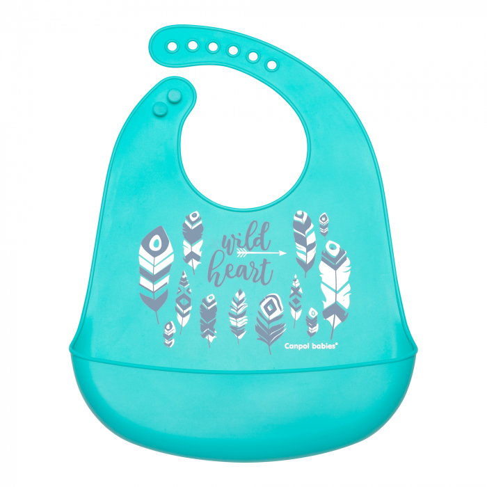 "Baveta din silicon moale ""Wild Nature"", Canpol babies®, fara BPA, 0"
