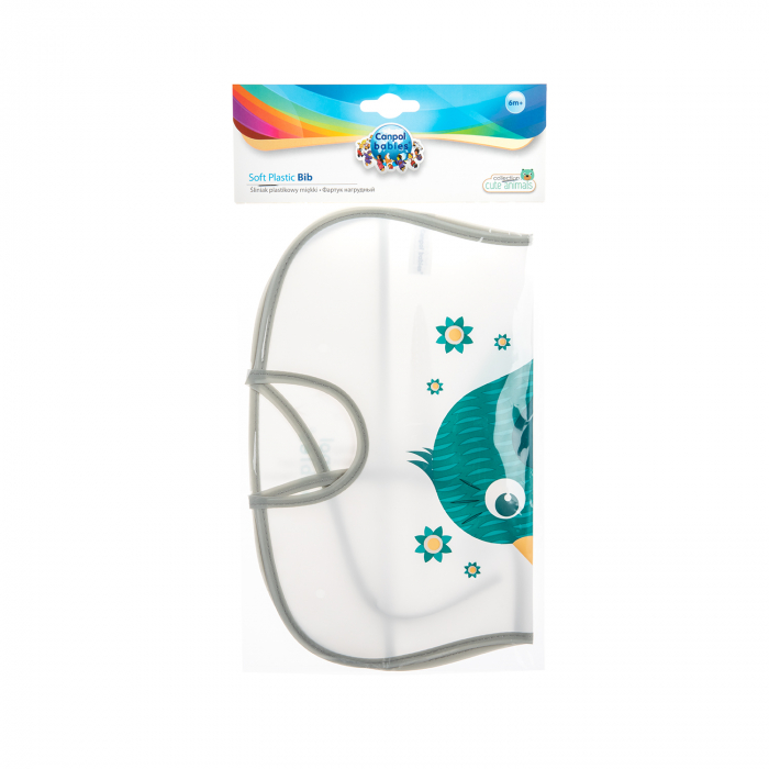 "Baveta ""Cute Animals"", Canpol babies®, fara BPA [1]"