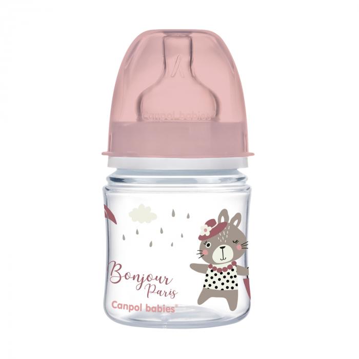"Biberon anticolici gat larg ""Bonjour Paris"", polipropilena, 120 ml [0]"