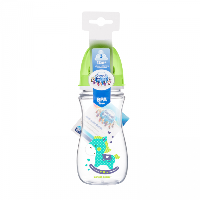 "Biberon anticolici gat larg, ""Easy Start Toys"", Canpol babies®, polipropilena, 300 ml 1"