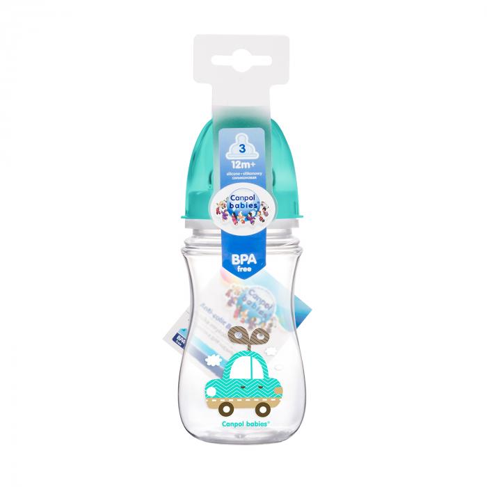 "Biberon anticolici gat larg ""Easy Start Toys"", Canpol babies®, polipropilena, 240 ml 1"