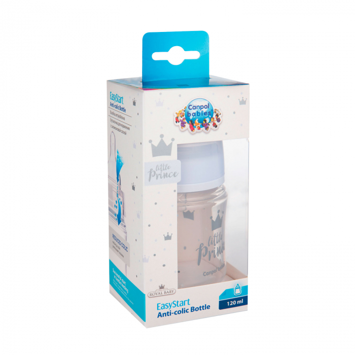 "Biberon anticolici gat larg ""Royal Baby"", polipropilena, 120 ml [2]"