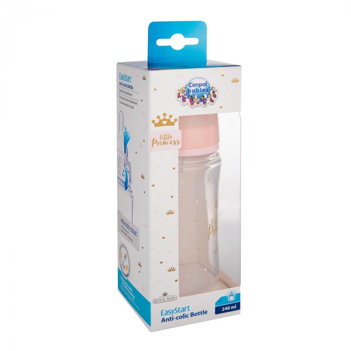 "Biberon anticolici gat larg ""Royal Baby"", polipropilena, 240 ml [2]"