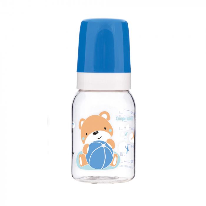 Biberon, Canpol babies®, Tritan, 120 ml, imprimat ursulet, albastru 0
