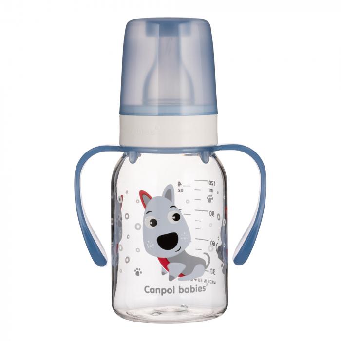 Biberon cu manere, Canpol babies®, Tritan, 120 ml [0]
