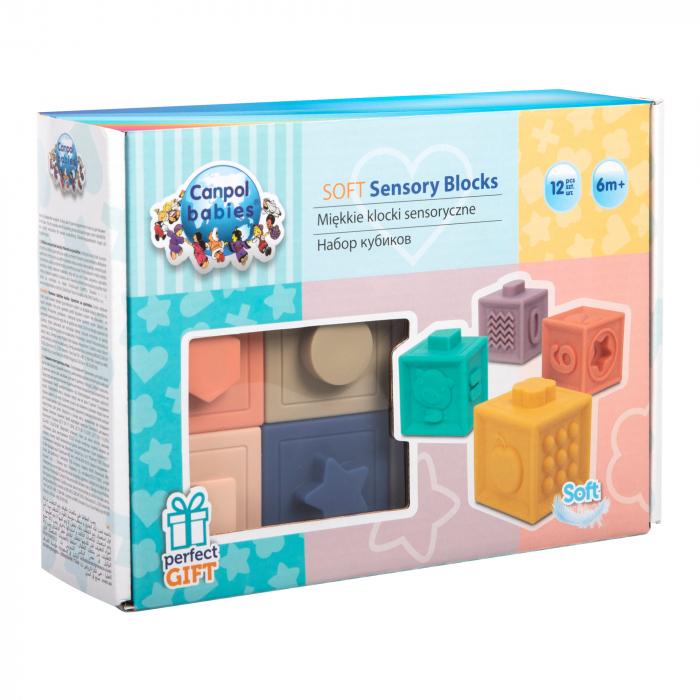 Blocuri moi senzoriale, Canpol babies®, 12 buc, multicolor 1