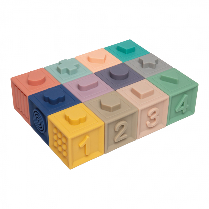 Blocuri moi senzoriale, Canpol babies®, 12 buc, multicolor 0