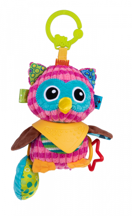 Bufnita Olivia, Bali Bazoo, jucarie din plus cu inele si chitaitoare, multicolora 0