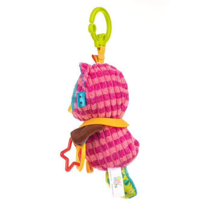 Bufnita Olivia, Bali Bazoo, jucarie din plus cu inele si chitaitoare, multicolora 3