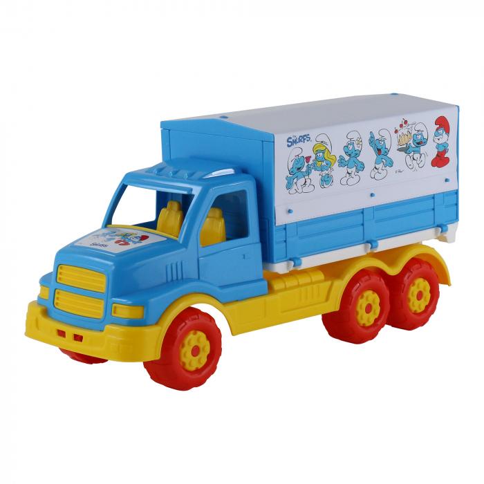 """Camion cu prelata """"Strumpfii"""", Polesie®, multicolor 0"""
