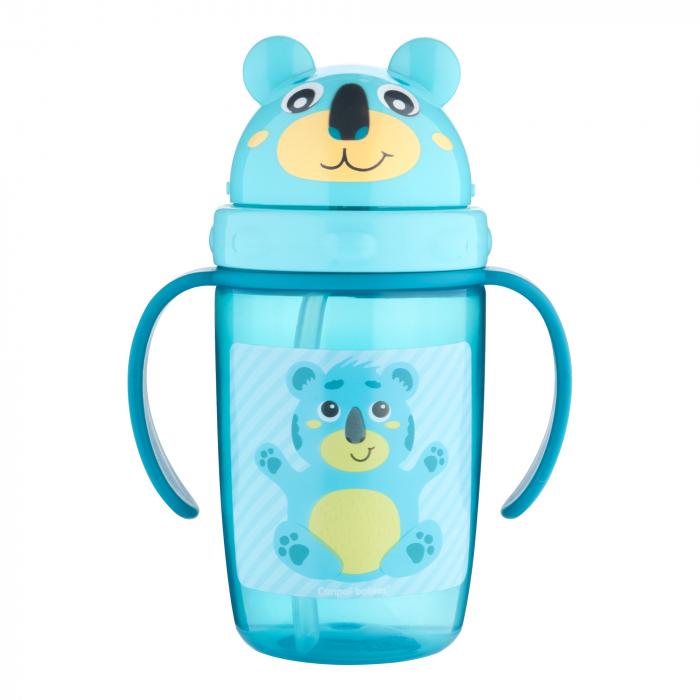 "Cana sport cu pai ""Hello Little!"", Canpol babies®, 400 ml, fara BPA, turcoaz 0"