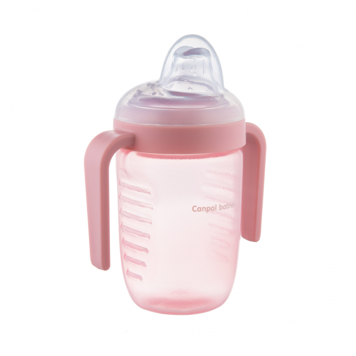 Canita anti-varsare, Canpol babies®, fara BPA, 220 ml, roz [0]