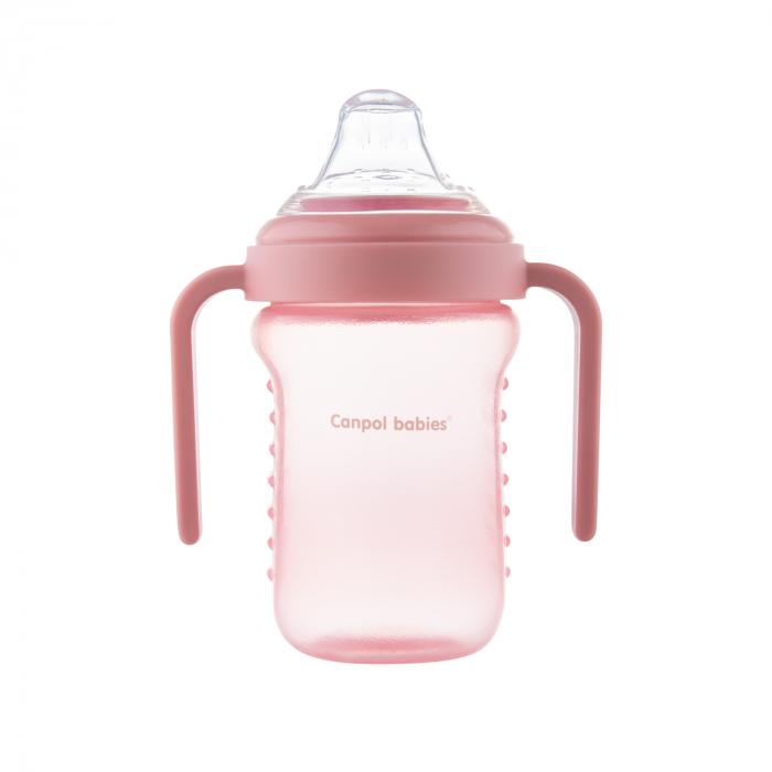 Canita anti-varsare, Canpol babies®, fara BPA, 220 ml, roz [5]