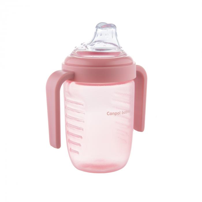Canita anti-varsare, Canpol babies®, fara BPA, 220 ml, roz [1]
