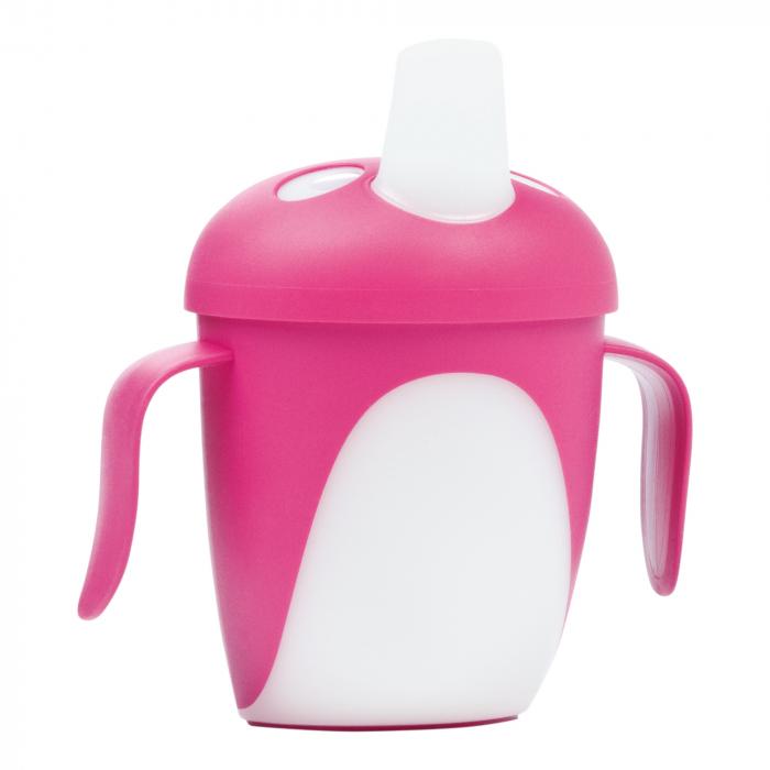 "Canita anti-varsare Haberman ""Pinguin"", Canpol babies®, 240 ml, roz [0]"