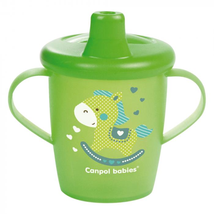 "Canita anti-varsare Haberman ""Toys"", Canpol babies®, 250 ml, verde [0]"